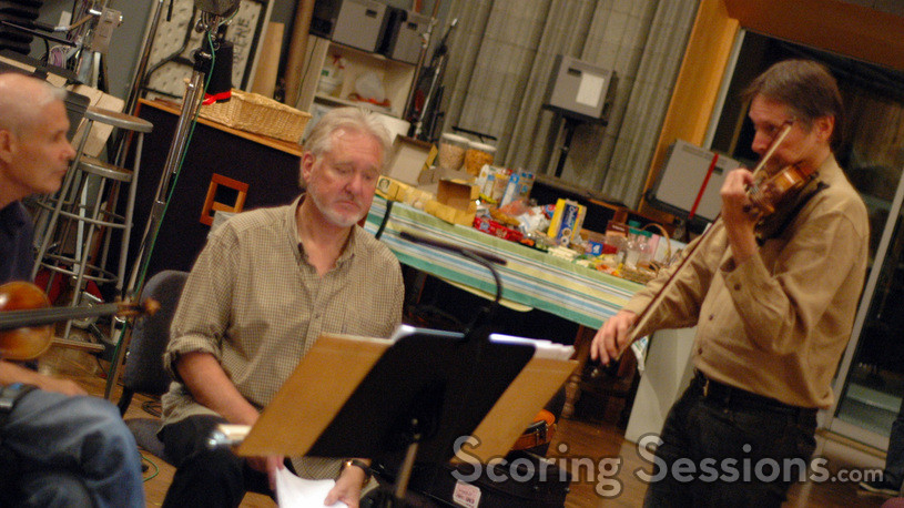 Violinists Sid Page and Peter Kent