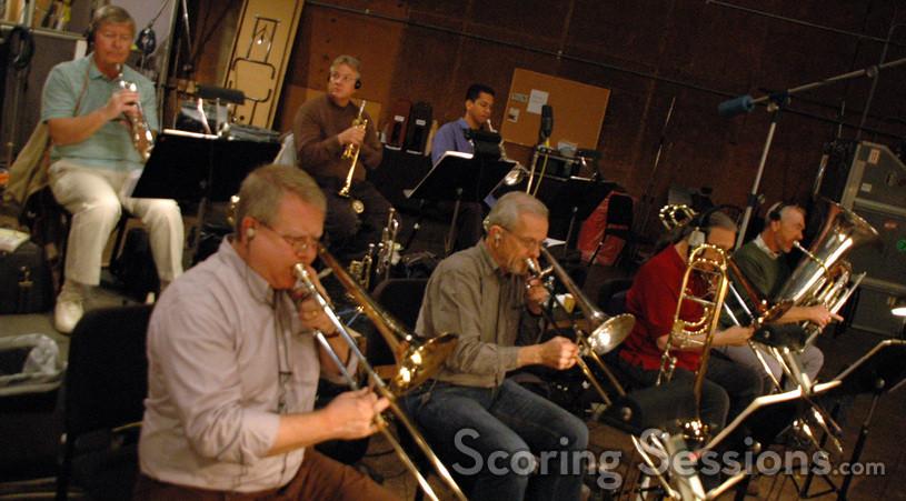 Trumpets: Warren Leunig, Dave Washburn and Barry Perkins.  Trombones:  Andy Malloy, Bill Booth and Bill Reichenbach.  Tuba: Doug Tornquist