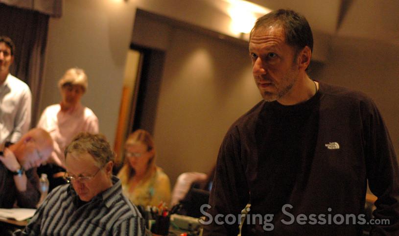 Composer Joel McNeely and scoring mixer Richard Breen