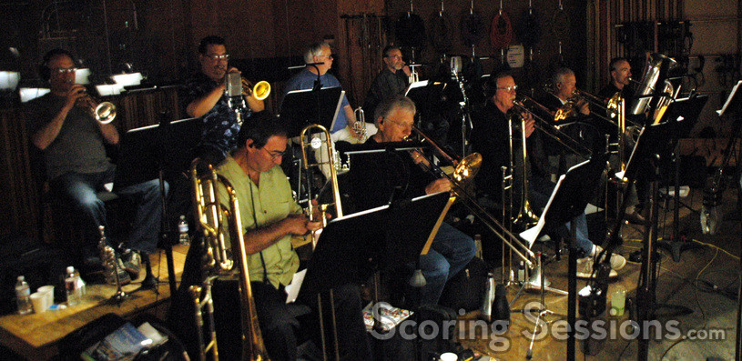 The brass section