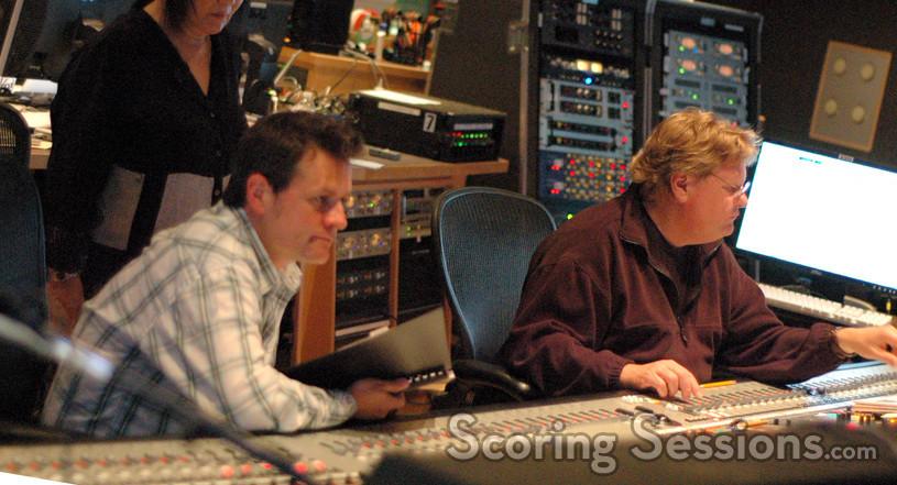 Brian Siewert and scoring mixer Steve Kempster