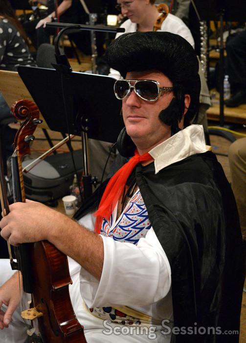 Elvis plays viola
