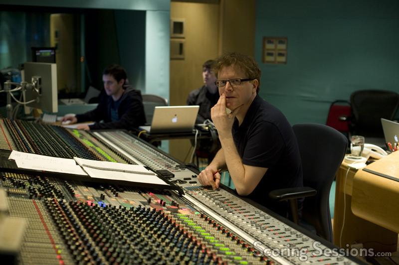 Scoring mixer Simon Rhodes