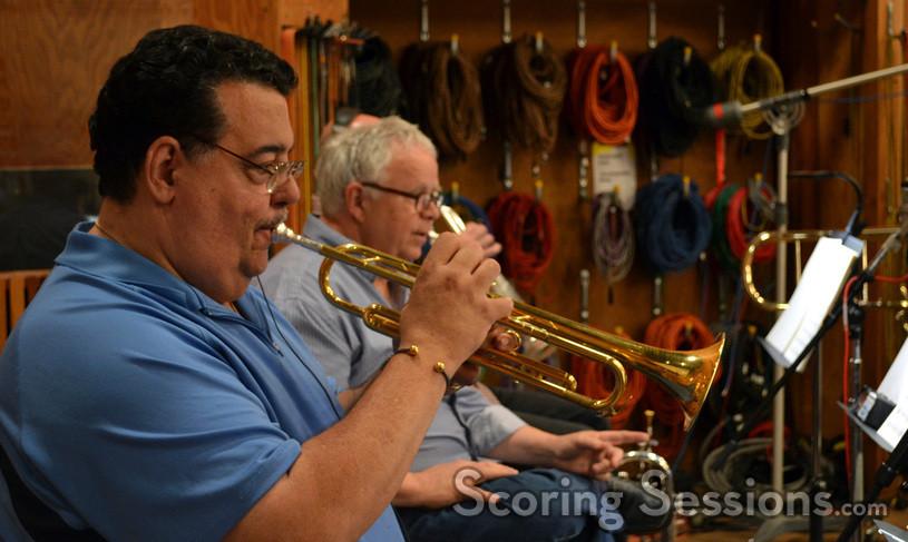 Trumpet players Rick Baptist and Malcolm McNab
