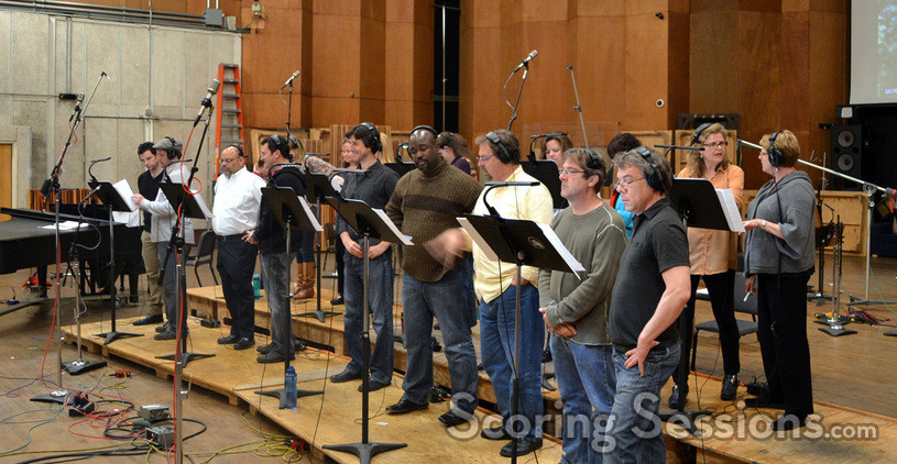 The choir sings on <i>The Smurfs</i>