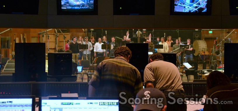 Recording the choir