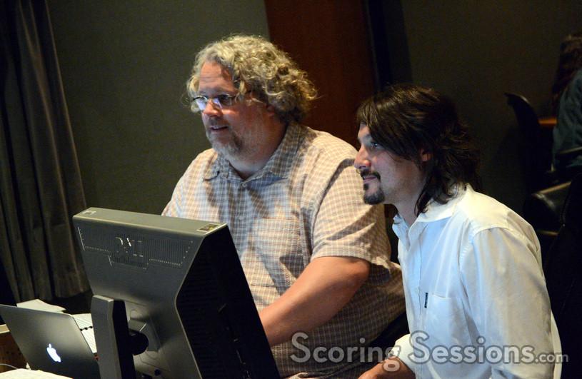 Music editor John Finklea and digtal recordist Adam Olmstead