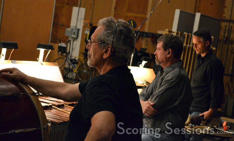 Percussionists Steve Schaefer, Greg Goodall, and Wade Culbreath