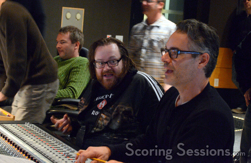 Director John Moore and composer Marco Beltrami react to a cue