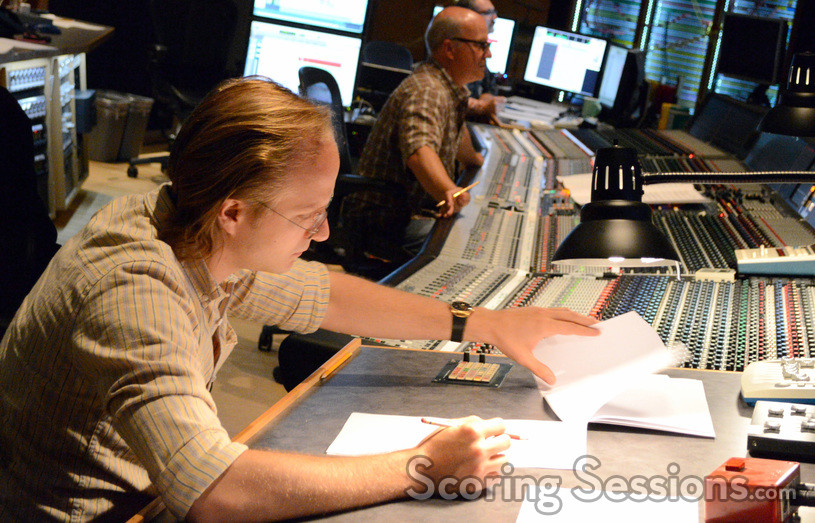 Orchestrator Ed Trybeck and scoring mixer Brad Haehnel