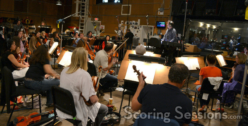 Conductor Gordon Goodwin and the strings