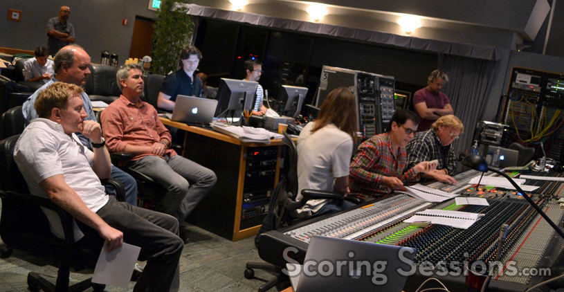 Producer Michael Ewing, editor Bill Kerr, director Peter Segal, music editor Robbie Boyd, ProTools recordist Larry Mah, scoring mixer Paul Linford, composer Trevor Rabin, orchestra mixer Steve Kempster, and stage recordist Adam Michalak