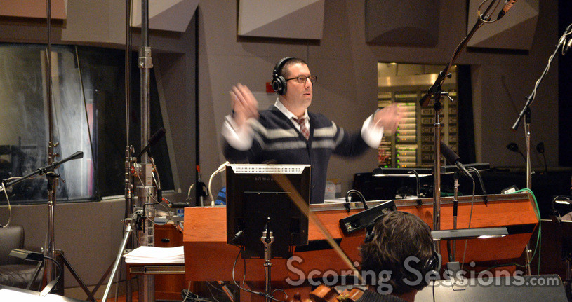Christopher Lennertz conducing the Hollywood Studio Symphony