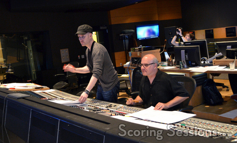 Composer Andrew Lockington and scoring mixer Brad Haehnel