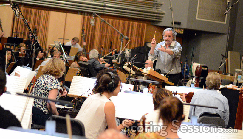Nicholas Dodd conducts the Hollywood Studio Symphony on <i>Percy Jackson: Sea of Monsters</i>