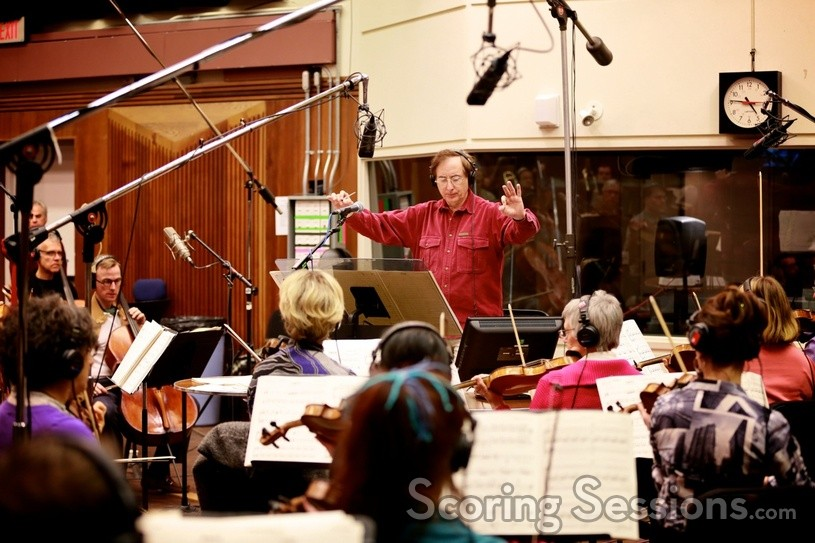 Composer Brahm Wenger conducts the Vancouver Film Orchestra