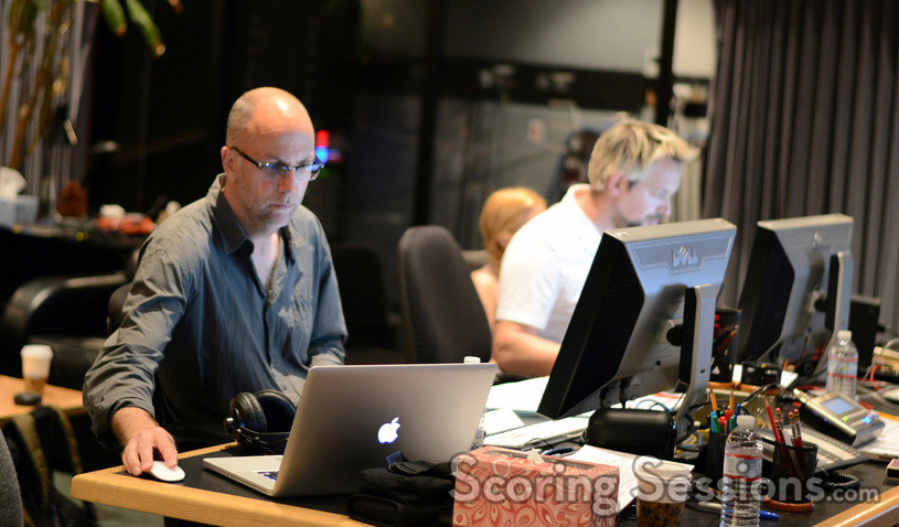 Music editor Fernand Bos and stage recordist Adam Michalak