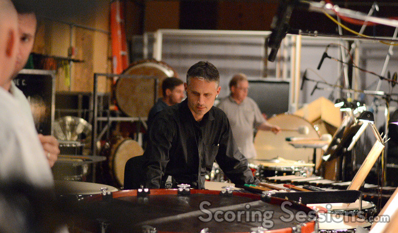 Percussionist Wade Culbreath performs on <i>White House Down</i>