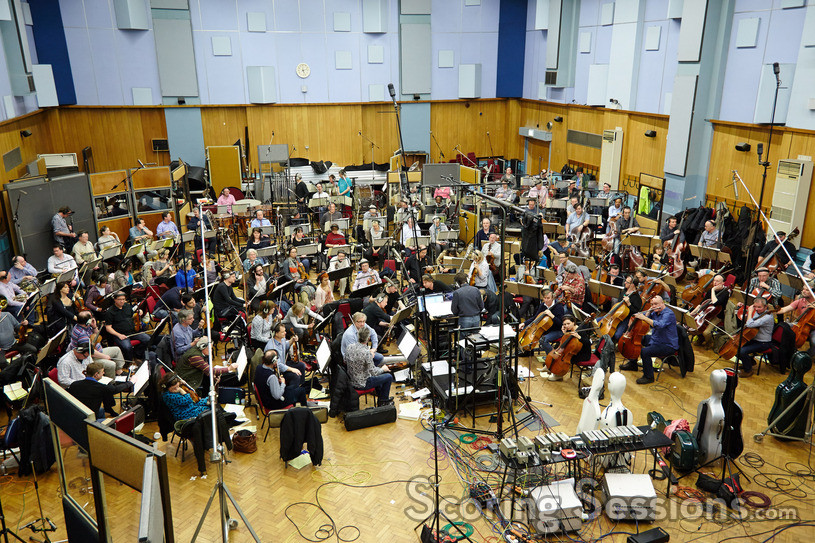 The orchestra records <i>How to Train Your Dragon 2</i> at Abbey Road Studios