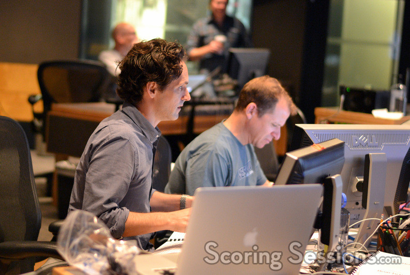 Music editor Dan Pinder and digital recordist Kevin Globerman