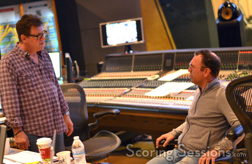 Scoring mixer Alan Meyerson and composer Henry Jackman