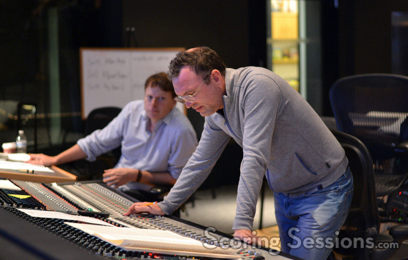 Lead orchestrator Stephen Coleman and composer Henry Jackman