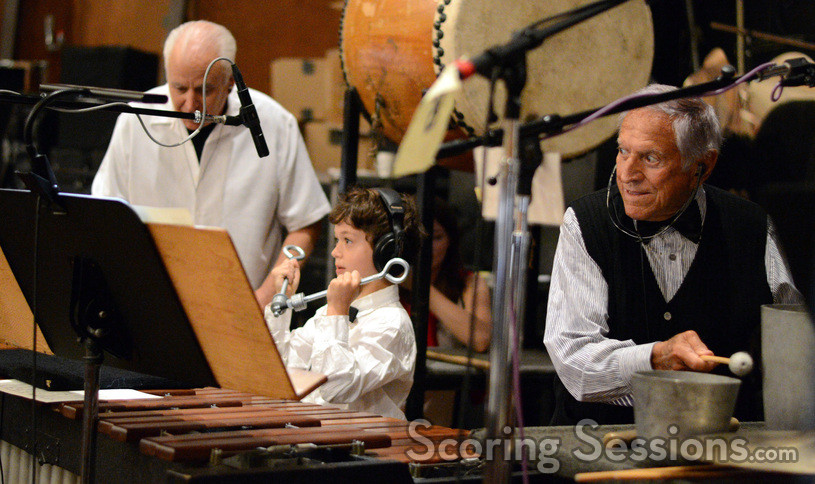 Percussionists Dan Greco, additional cue composer Griffith Giacchino, and Emil Richards