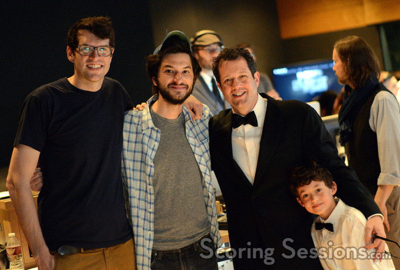 Actor Timothy Simons, actor Ben Schwartz, composer Michael Giacchino, and additional cue composer Griffith Giacchino