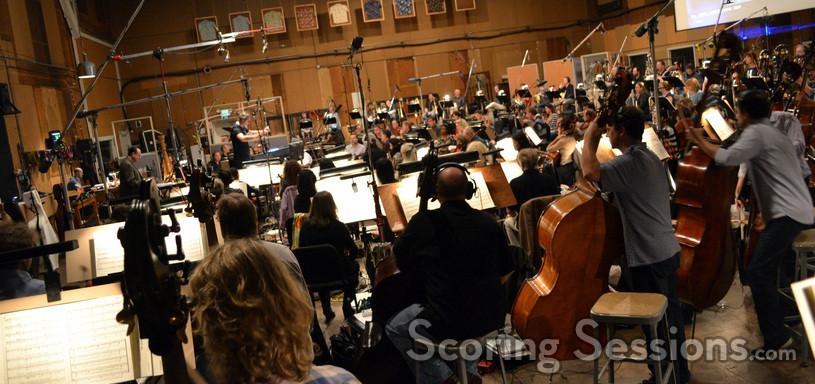 Composer Alexandre Desplat conducts a 108-piece orchestra on <i>Godzilla</i>