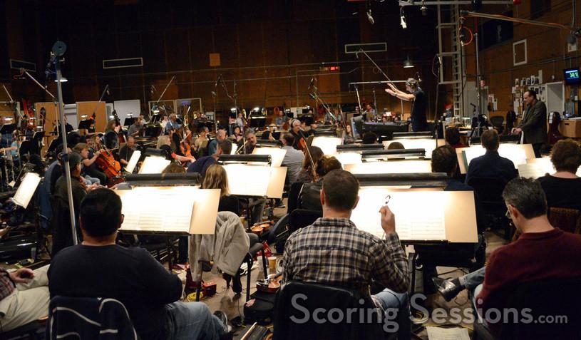Composer Alexandre Desplat and Hollywood Studio Symphony perform on <i>Godzilla</i>