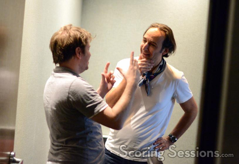 Director Gareth Edwards and composer Alexandre Desplat