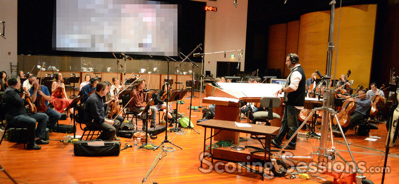 Composer Christopher Lennertz and the 40-piece string section