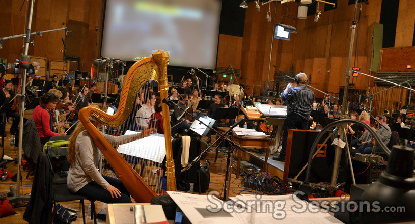 Conductor Pete Anthony and the orchestra record composer John Paesano's score to <i>The Maze Runner</i>