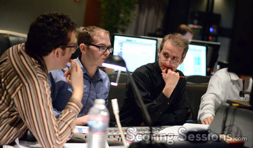 Orchestrator Michael Lloyd, score producer Alex Bornstein, and orchestrator Andrew Kinney