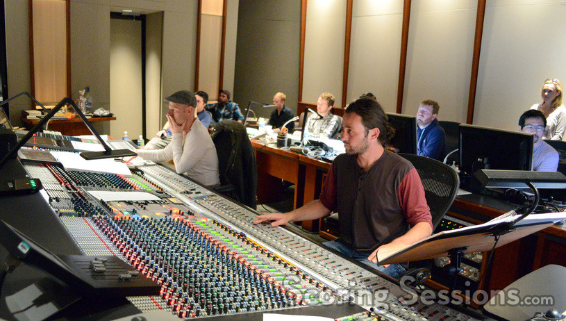 Composer Tom Holkenborg and score recording mixer Greg Hayes