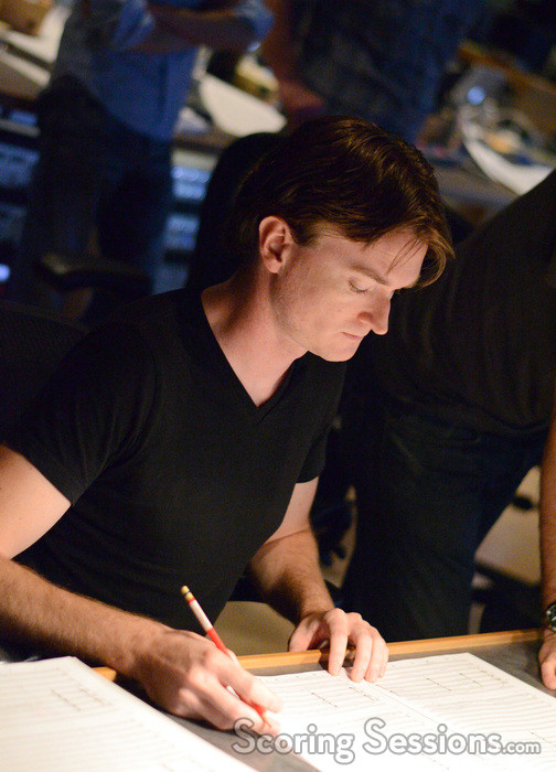 Additional music composer and orchestrator Jason Livesay works on a cue