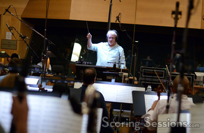 Conductor and orchestrator Pete Anthony prepares for the downbeat
