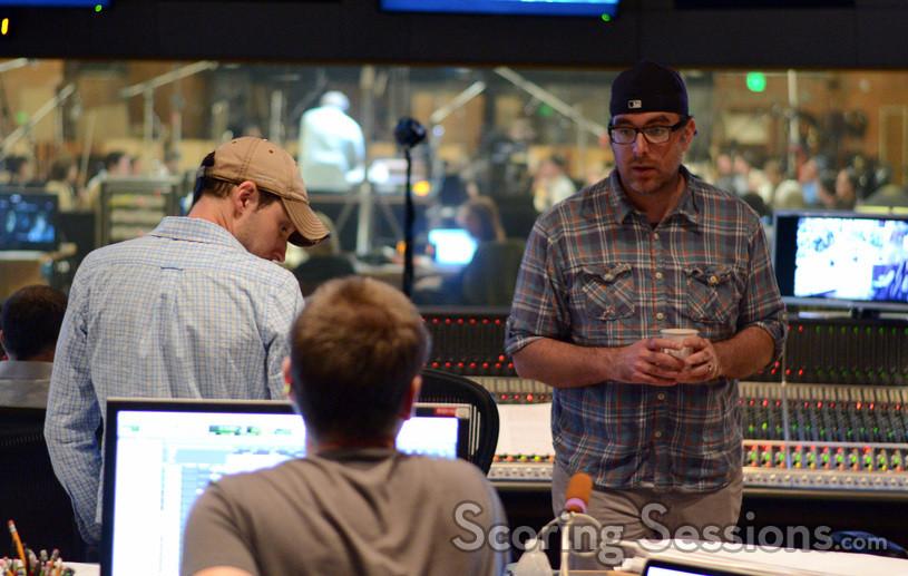 Composer John Paesano talks with additional music composer Braden Kimball