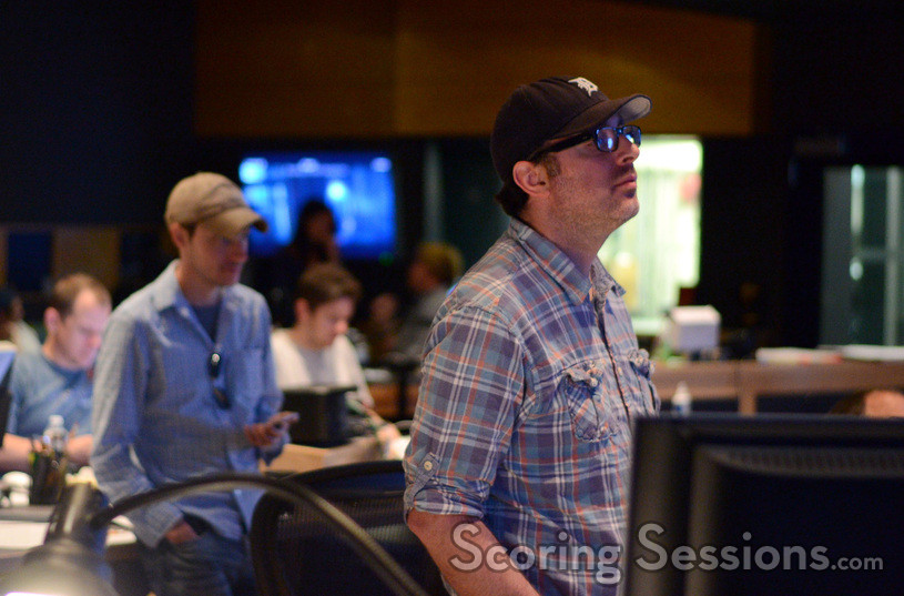Composer John Paesano listens as his score to <i>Maze Runner: The Scorch Trials</i> is recorded