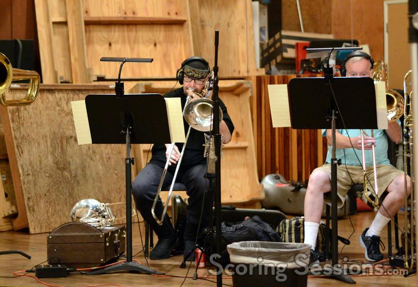 Phil Teele and Craig Ware on trombone