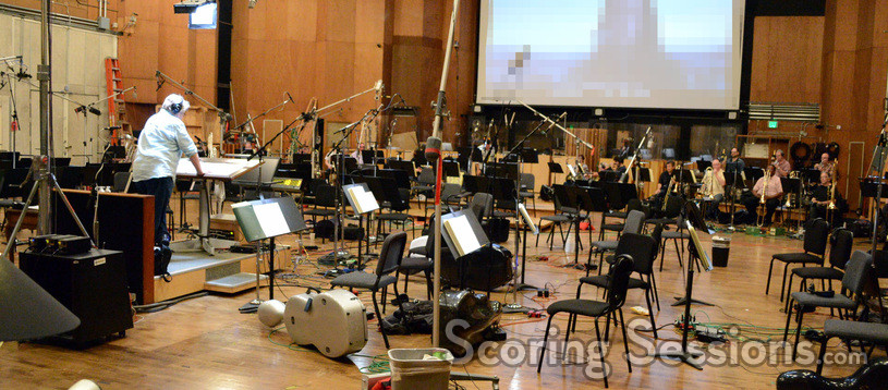 Conductor and orchestrator Pete Anthony and the brass record a cue from <i>Maze Runner: The Scorch Trials</i>