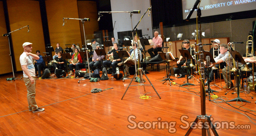 Composer Tom Holkenborg and the brass section