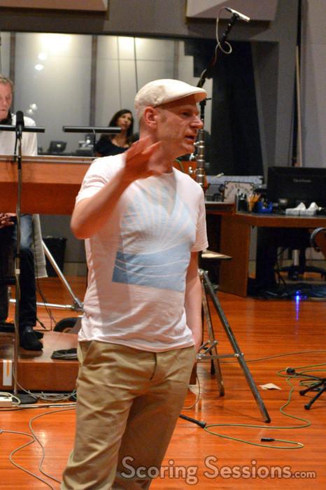 Composer Tom Holkenborg addresses the brass