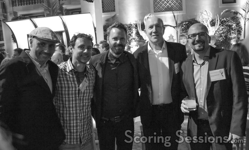 Emmy nominees Dominik Scherrer (<em>The Missing</em>), Kyle Dunnigan and Jim Roach (<em>Inside Amy Schumer</em>), William Ross (<em>Away and Back</em>) and Maurizio Malagnini (<em>The Paradise</em>)