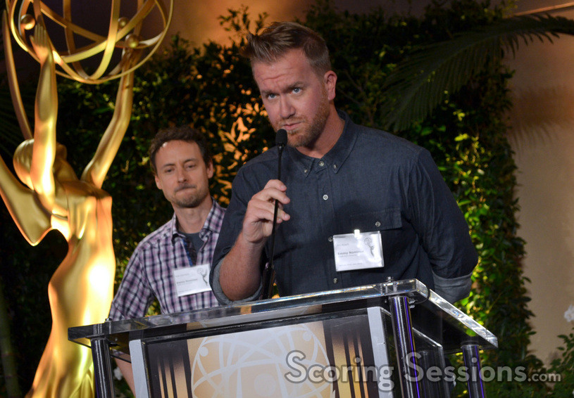 Emmy nominees Kyle Dunnigan and Jim Roach (<em>Inside Amy Schumer</em>) address the gathering