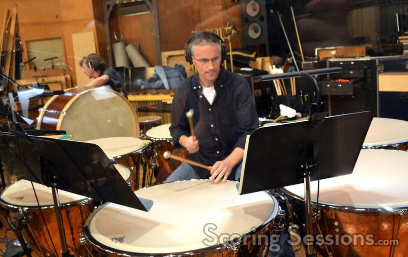 Percussionist Wade Culbreath on timpani