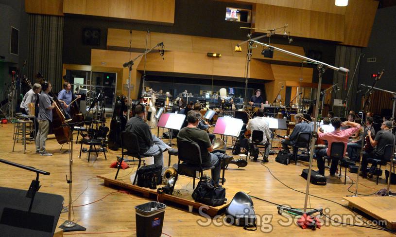 Alex Heffes conducts the Hollywood Studio Symphony on <i>11.22.63</i>