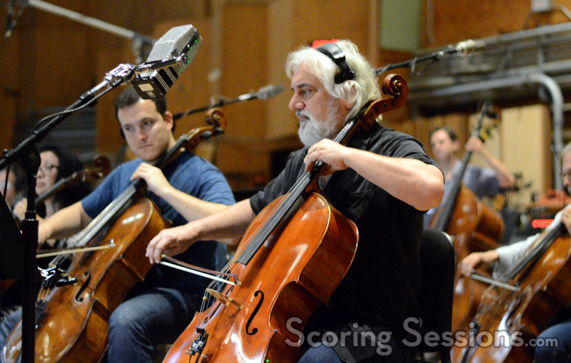 Principal cellist Andrew Shulman and the cello section