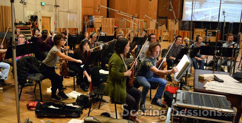 The violin section on <em>Bliss!</em>