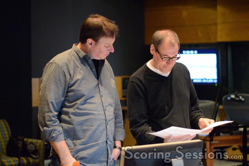 ProTools Recordist Eric Swanson and score editor David Channing